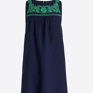 J Crew Navy Embroidered Dress